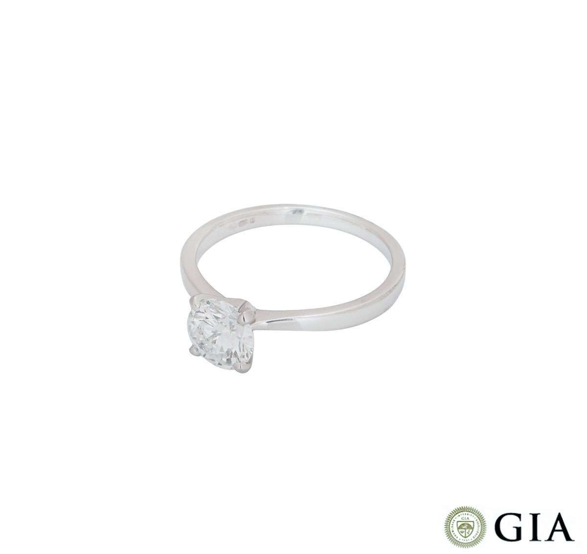 White Gold Round Brilliant Cut Diamond Ring 1.04ct E/VS1 XXX